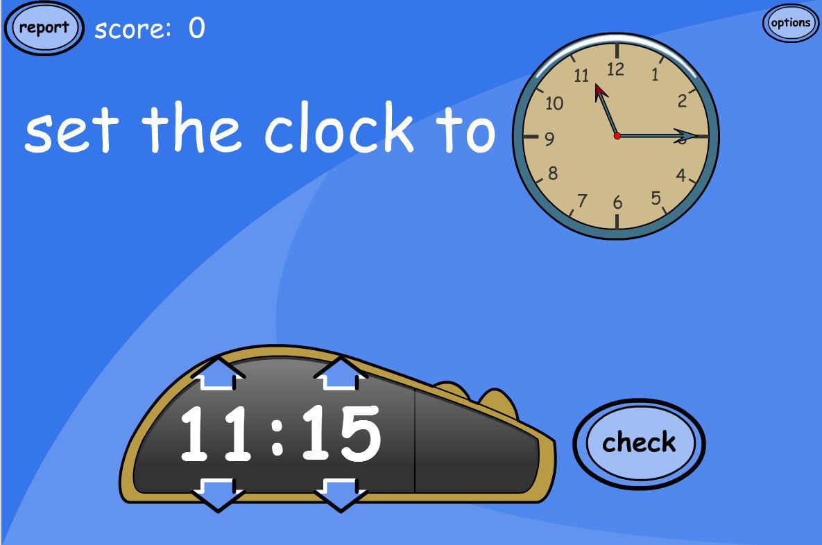 A Tesiboard Game For Practising Time Read The Time On The