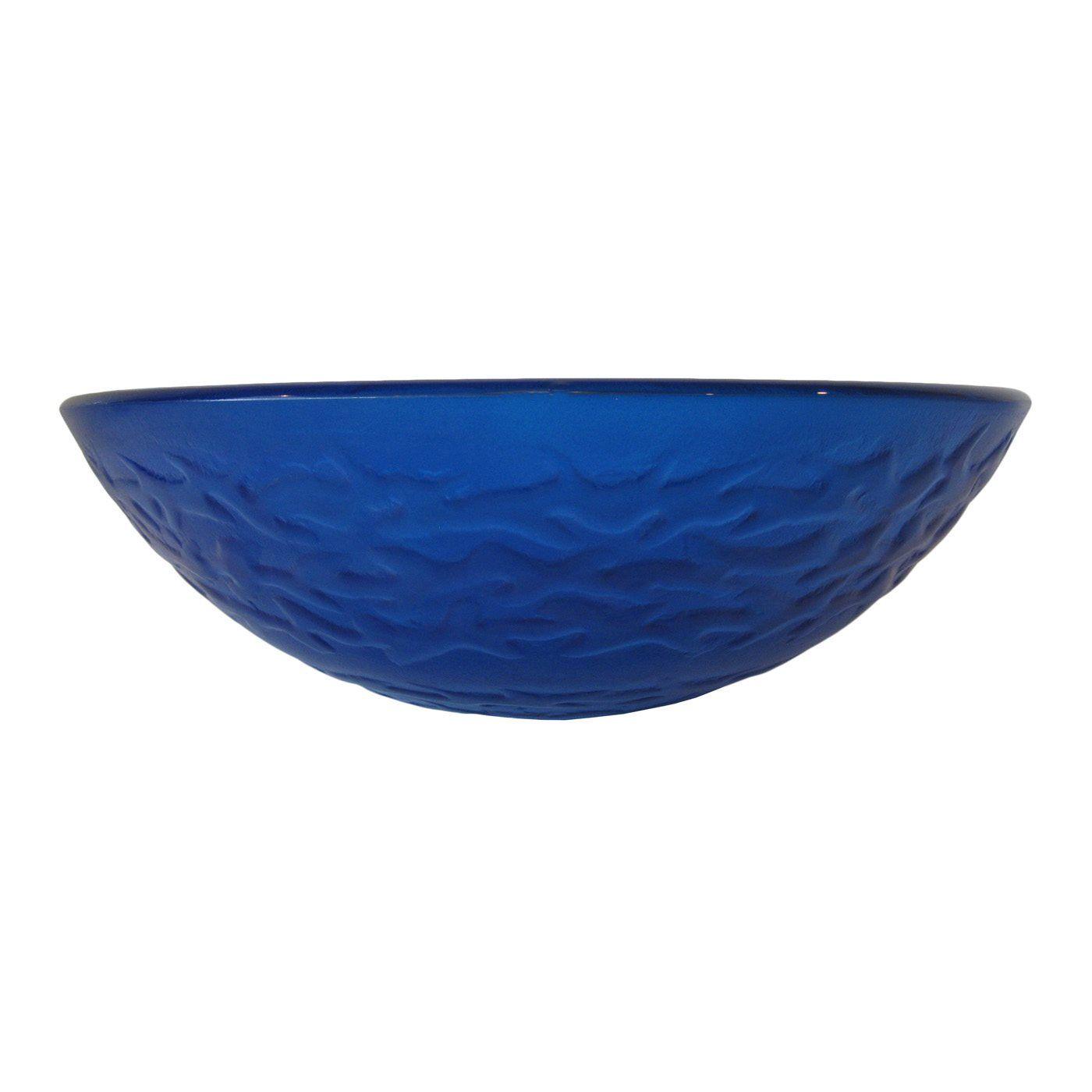 Novatto TIG 8079 Mare Blu Ocean Blue Round Glass Vessel Sink | ATG Stores