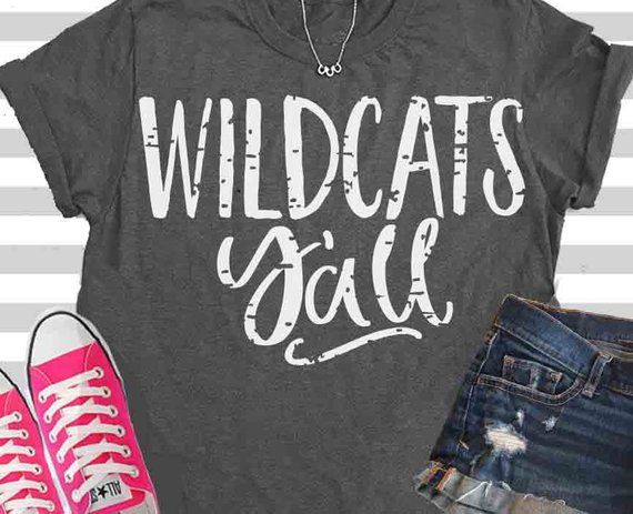 7b7616cd wildcats y'all, svg, svg, wildcats, paw svg, yall. cats, football, baseball  svg, basketball svg, wildcat, dxf, eps, shorts and lemons, shirt