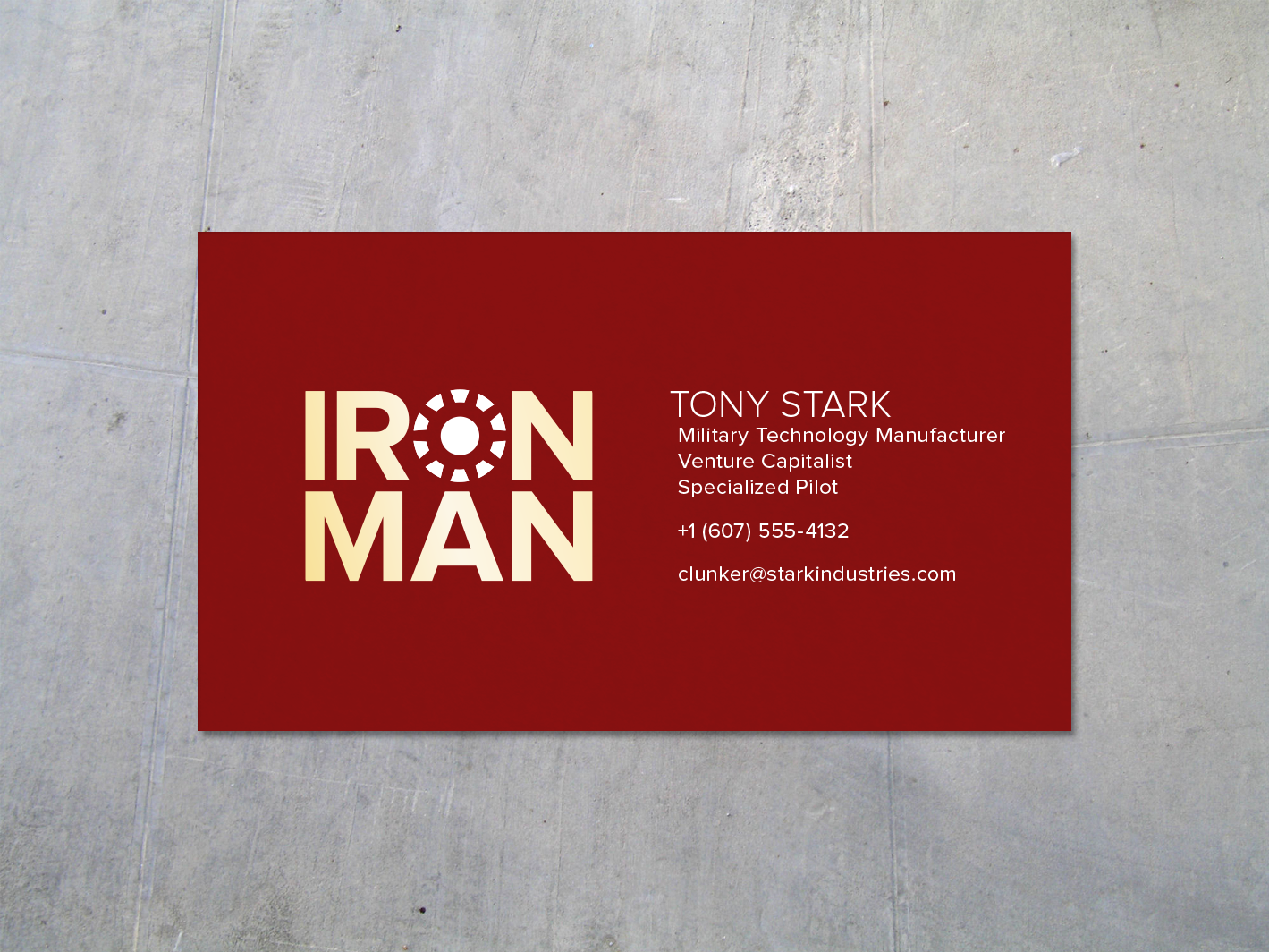 Iron Man business card - to go with your cosplay | Iron Man & War ...