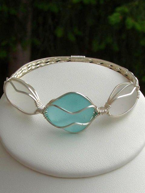 sea glass bracelet www.artisanseaglass.com   Artisan Sea Glass ...
