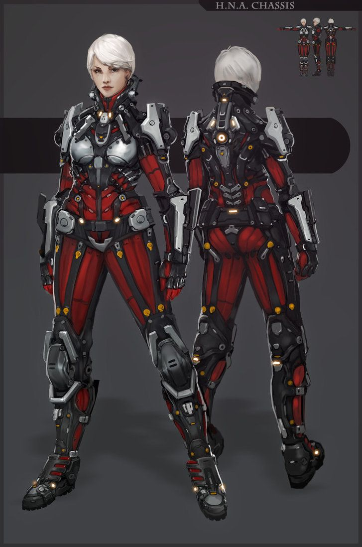 HNA w chassis by *2-Dpanda on deviantART. Except for the boob cups, this is a really nice design.