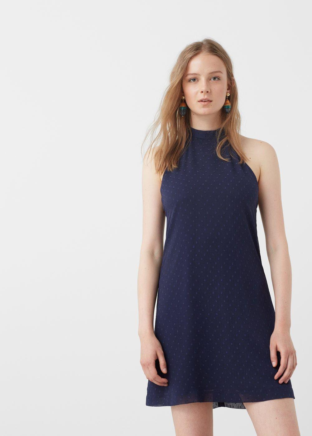Robe texturée à pois - Femme   shopping list   Robe, Vetements et ... b1f32fca9e0a