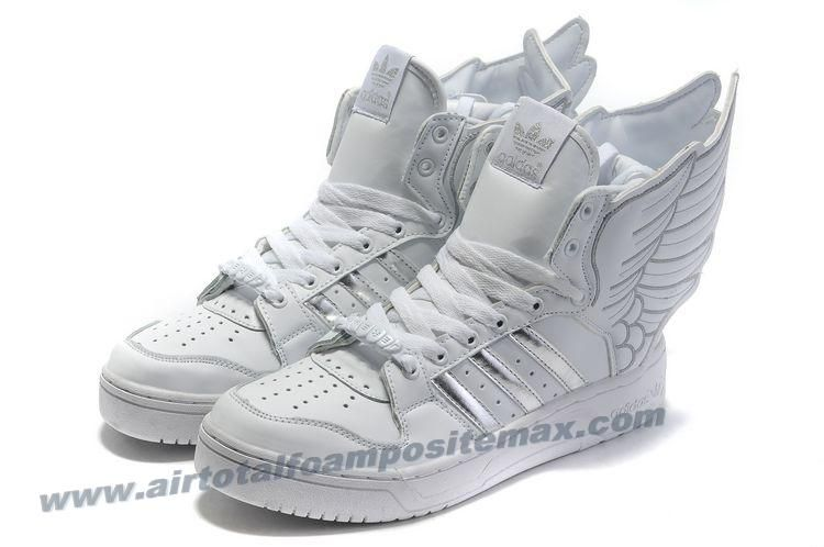 Adidas X Zapatos Jeremy Scott Wings 2.0 Zapatos X Blanco Plata Outlet | Air 750170