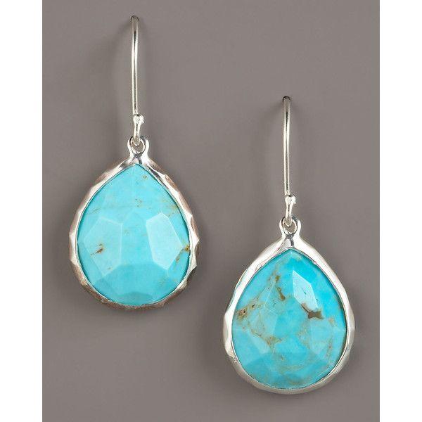 Ippolita Turquoise Teardrop Earrings Small 350 Liked On Polyvore