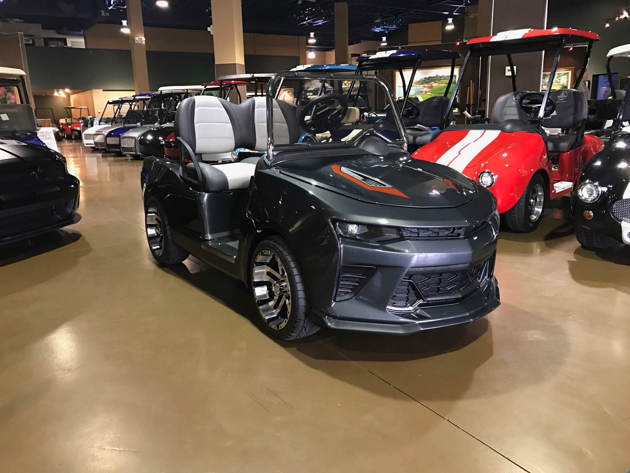 Caddyshack S New 2017 Chevy Camaro Fifty Golf Cart Officially Licensed By General Motors Golf Carts Custom Golf Carts Used Golf Carts