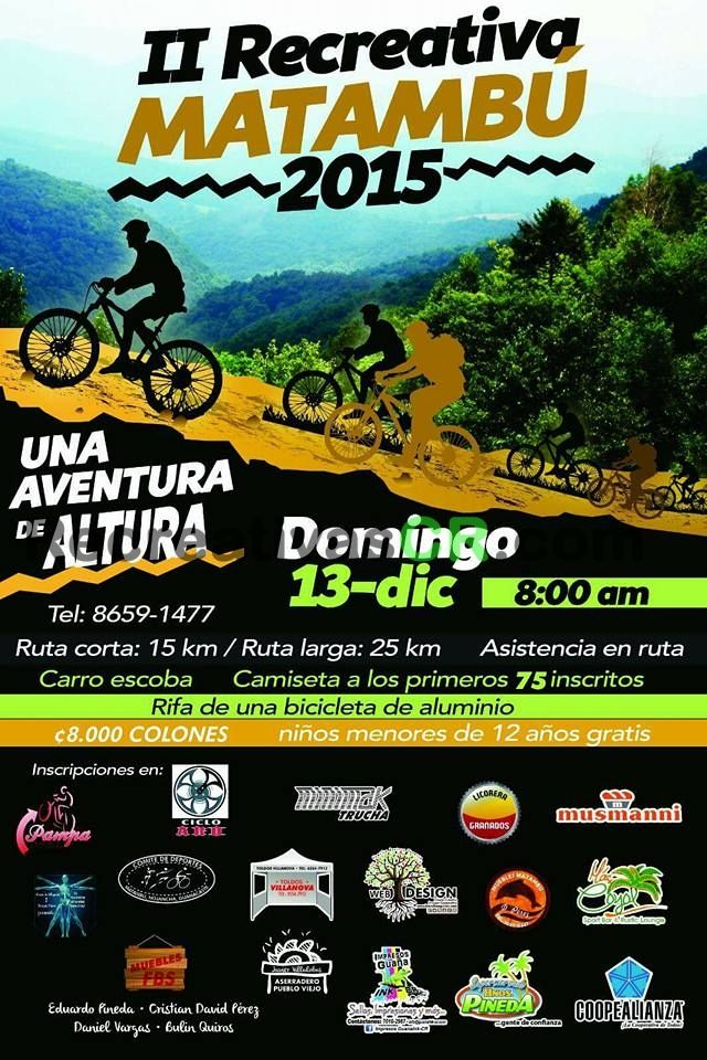Calendario Mtb 2019 Costa Rica.When 13 12 2015 8 00 Am Where Nicoya Nicoya Costa Rica