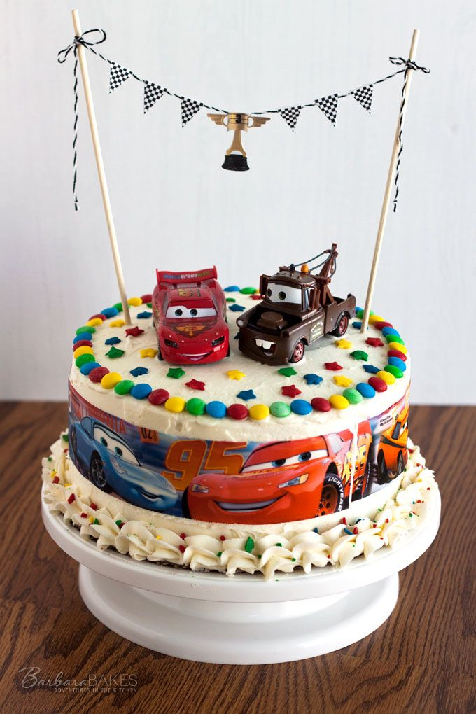 Disney Cars party treats to celebrate the Cars 3 movie Kachow