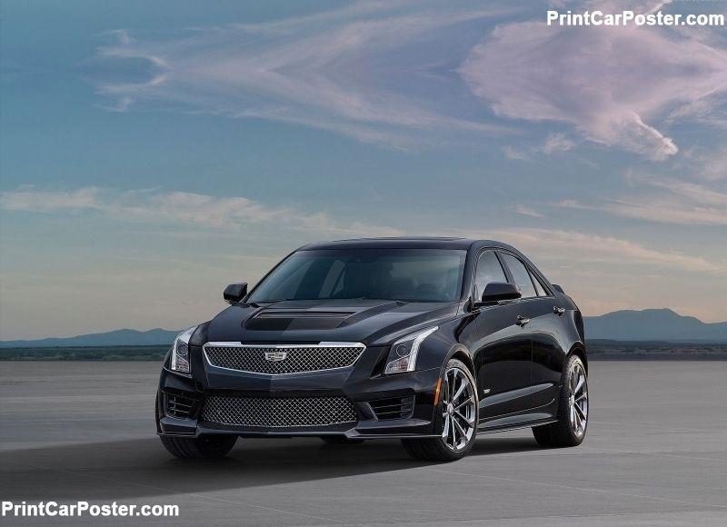 Cadillac ATS V Sedan 2016 poster, #poster, #mousepad