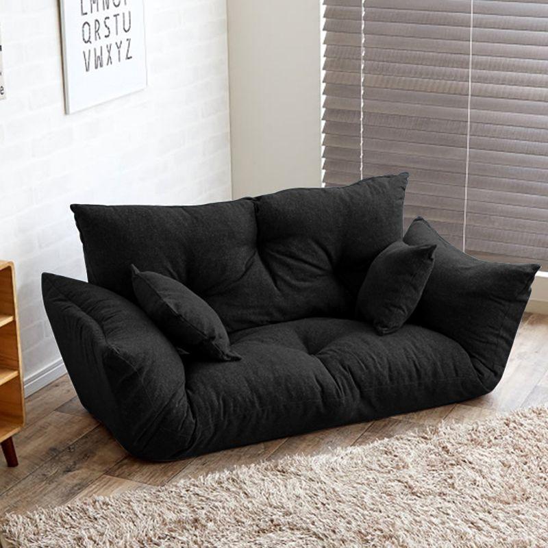 Moderno Sofá Cama Plegable Brazo Ajustable Respaldo reclinable Salón ...