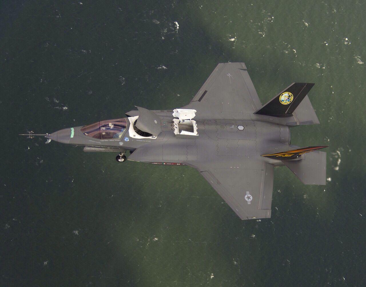 F-35 Lightning in SVTOL mode