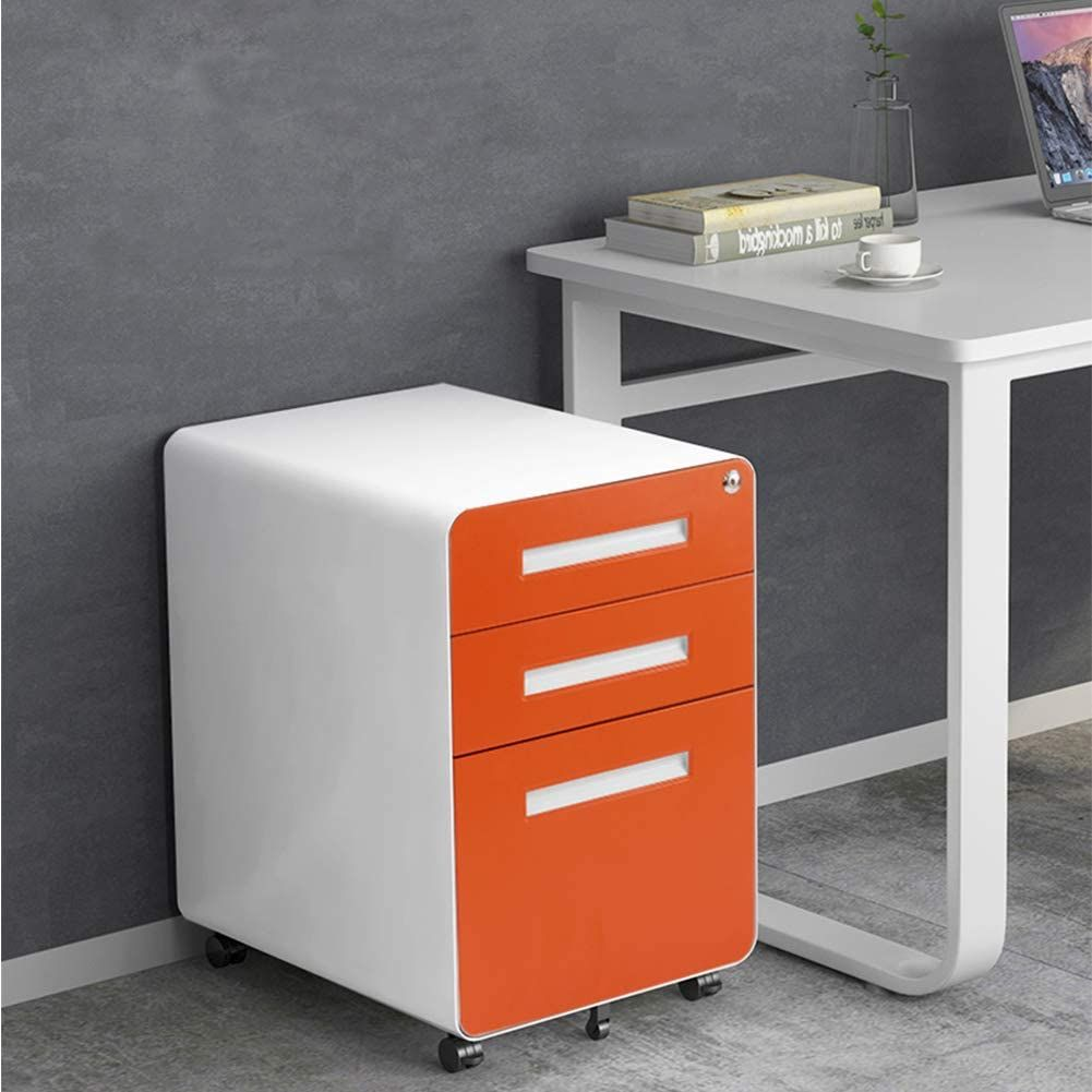 Amazon Com Intergreat 3 Drawer Filing Cabinet With Lock Metal Rolling File Cabinet With Anti Tilt Wheels Hangi In 2020 Filing Cabinet Drawer Filing Cabinet Cabinet