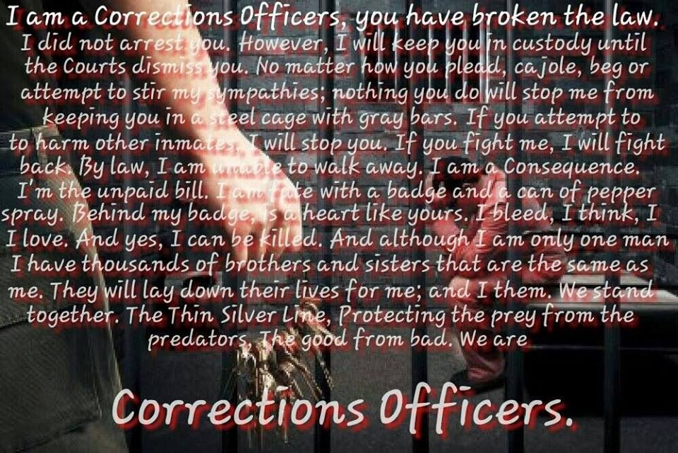 Being a correction officer is so hard ) but love it Quotes