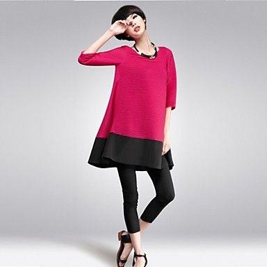 colletto tondo vestito patchwork coreano delle donne (più colori) - EUR € 19.99