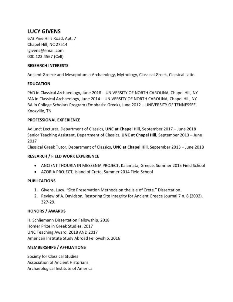 نموذج سيرة ذاتية بالانجليزية جهاز للتعبئة بصيغة الورد Word نموذج سيرة ذاتية بالانجليزية جهاز للتعبئ Classical Latin University Of North Carolina Ancient Greece