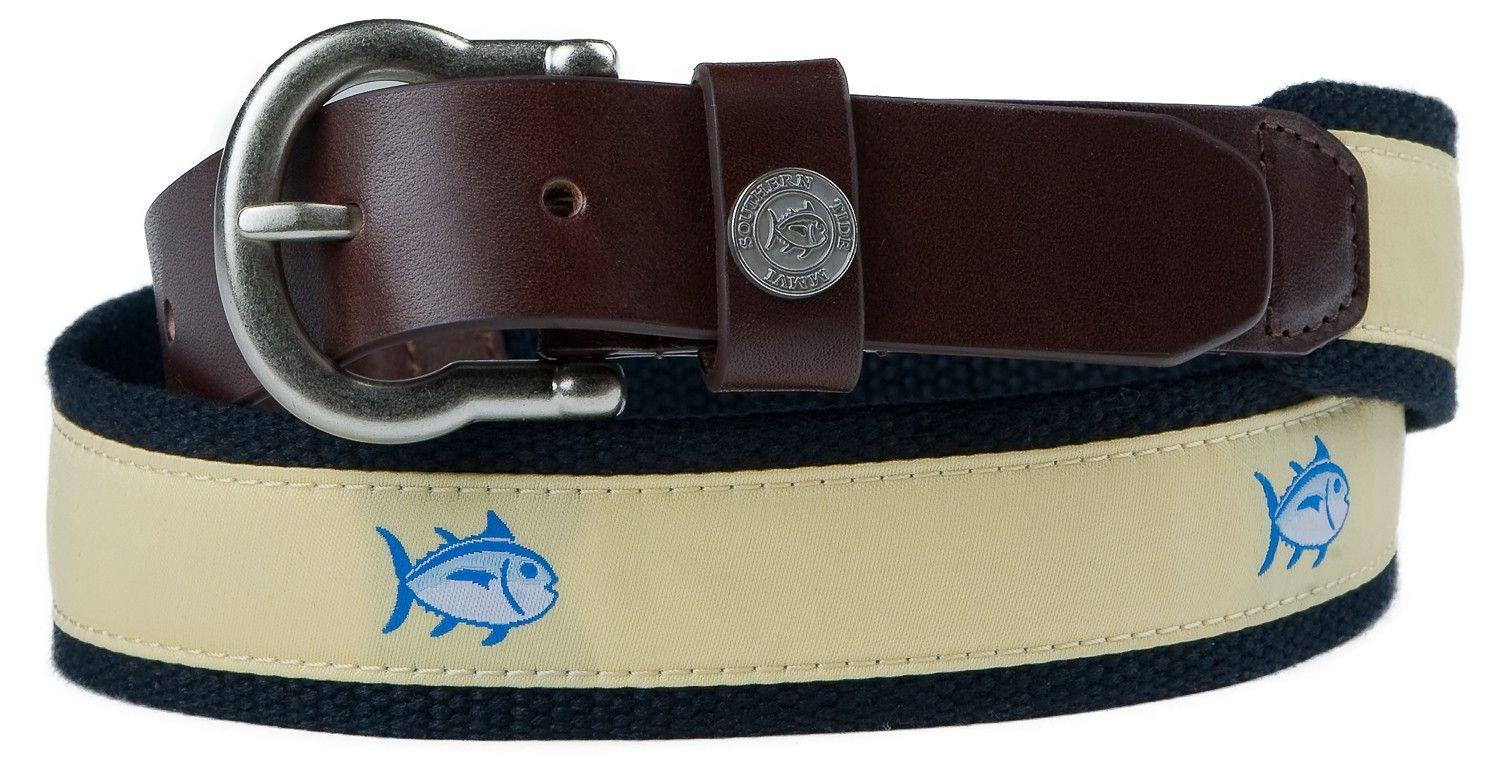Classic Skipjack Canvas Belt Belt, Southern tide, Mens belts
