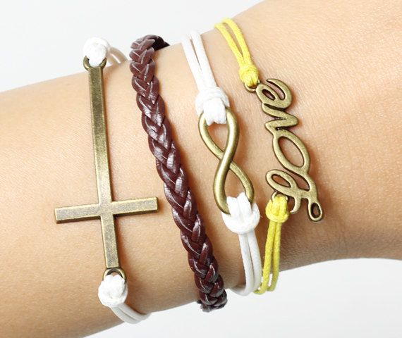 lovers bracelets   bronze infinit & anchor  by lifesunshine, $6.99