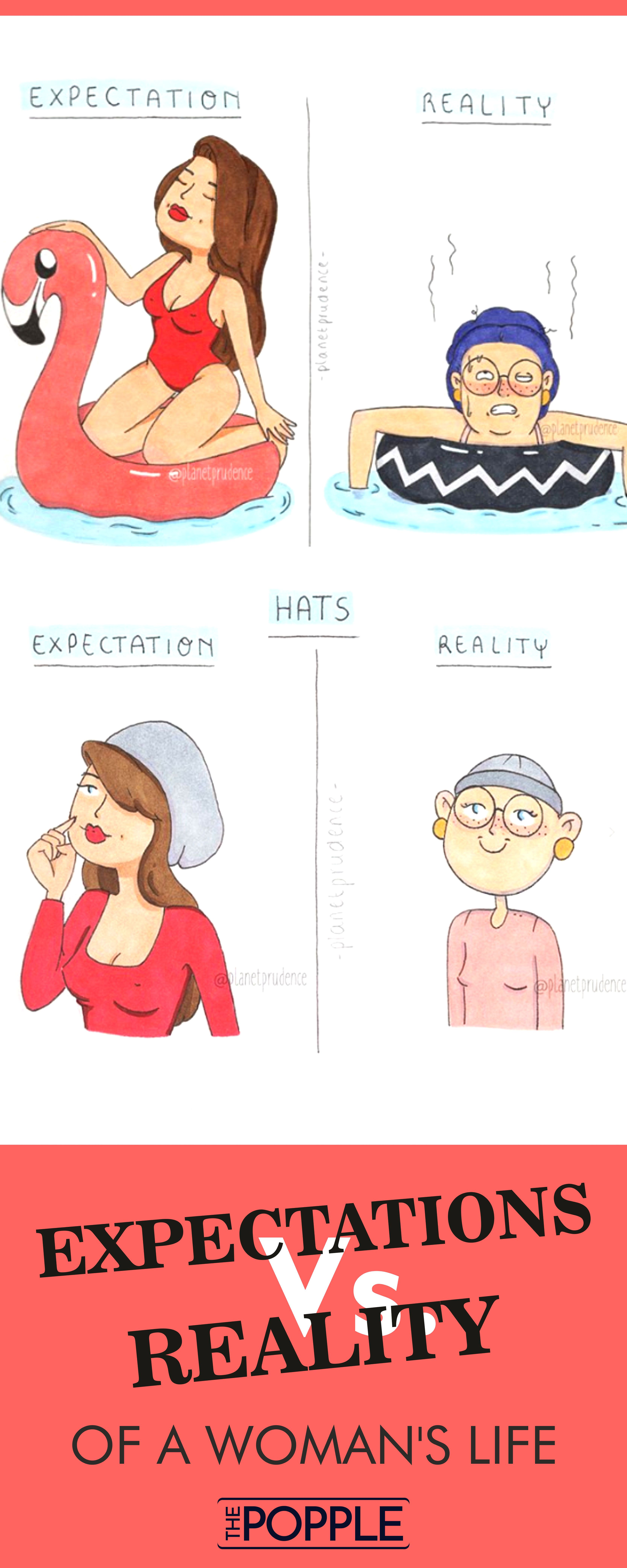 Funny Illustrations That Show Expectations Vs Reality Of A Woman S Life Funny Illustration Expectation Vs Reality Funny