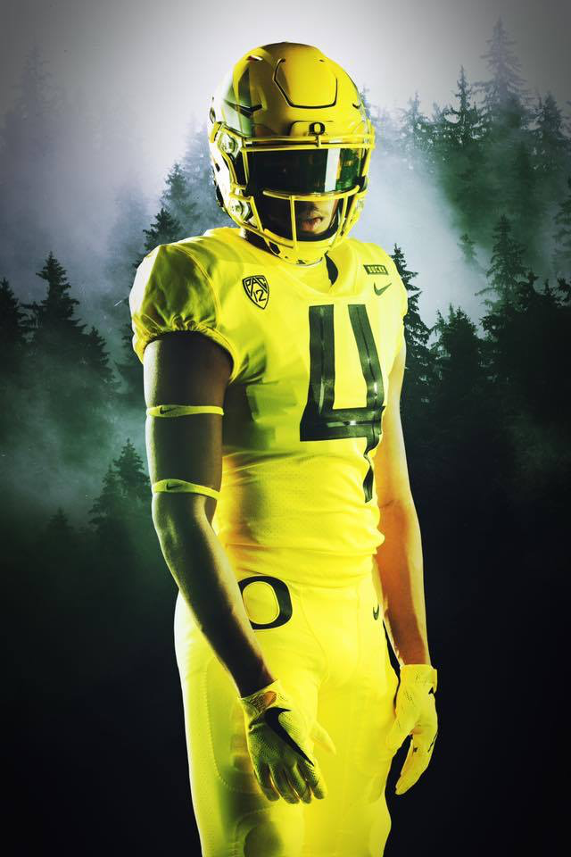 quality design 95340 f5102 Electric Yellow' uniform combo vs' Washington. (2018 ...