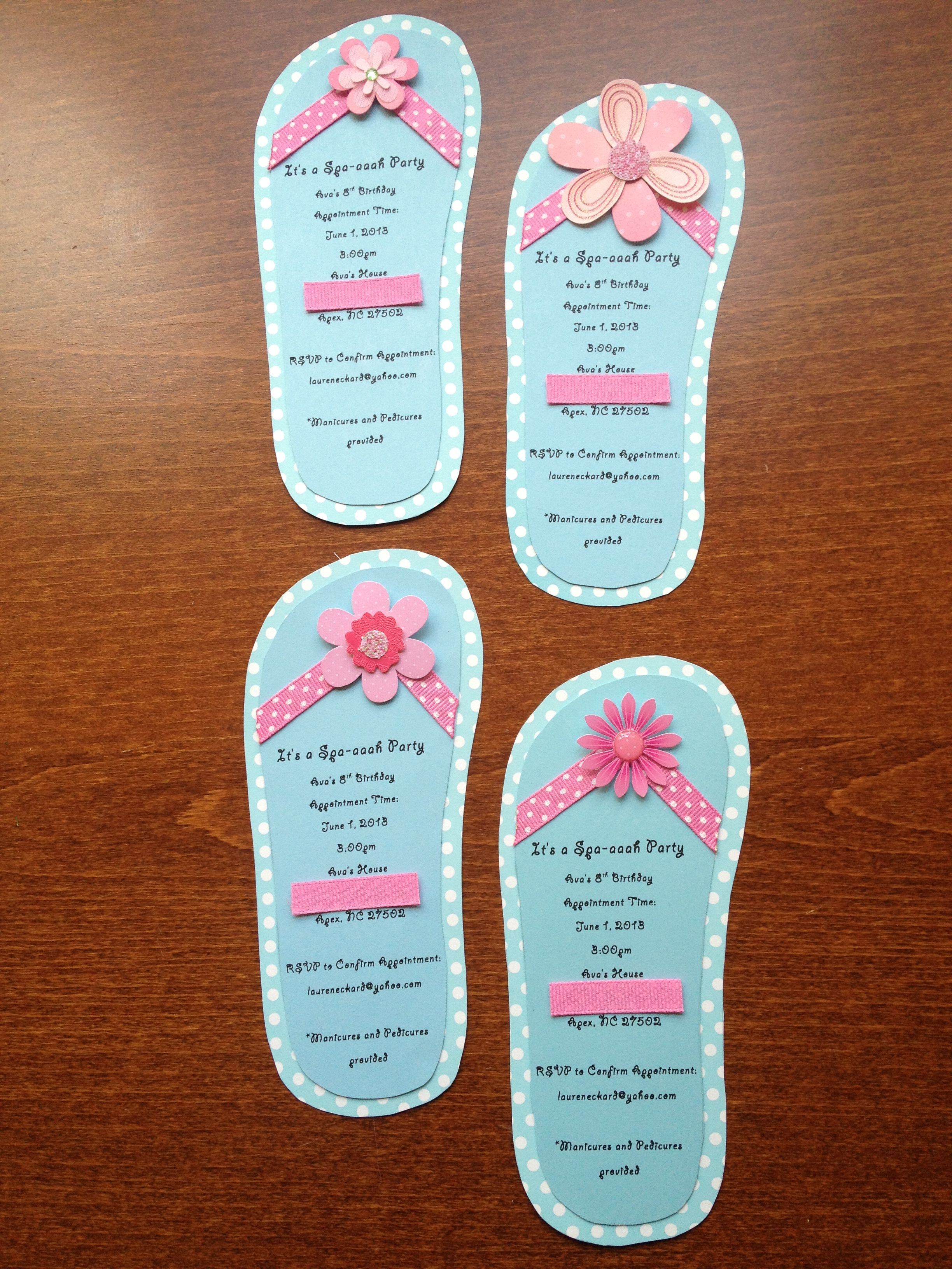 Photo of Hand-Crafted Birthday Party Invitation (It's a Spa-aaah Party) Ava's 8th Birthda…