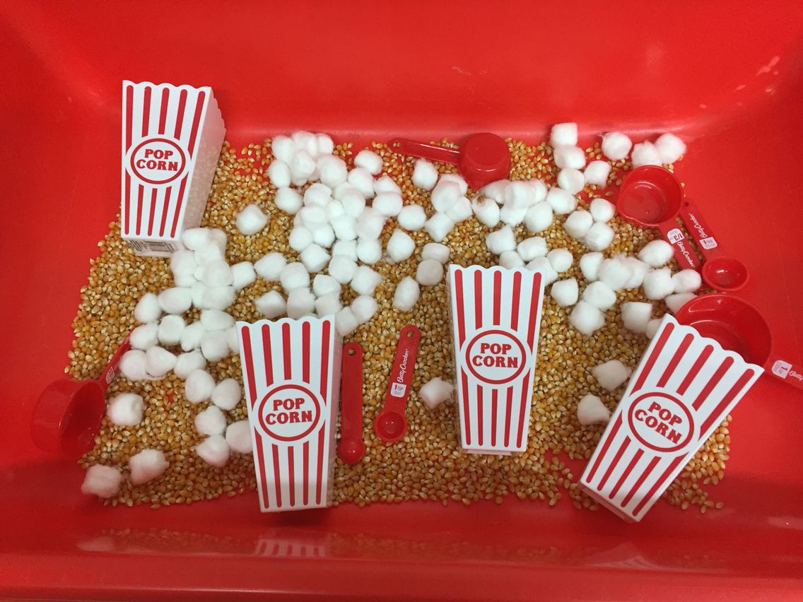 a fun sensory table idea for a circus theme