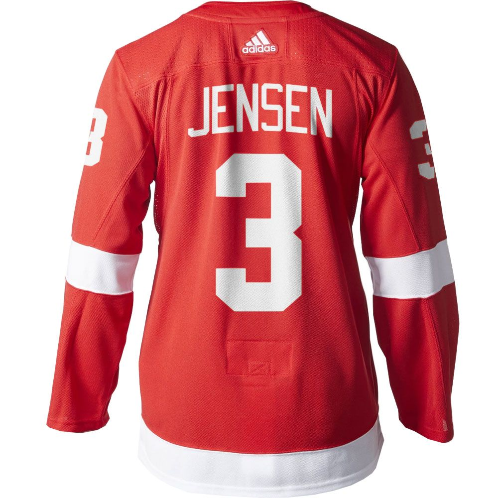 Nick Jensen Detroit Red Wings Men s Adidas AUTHENTIC Home Jersey ... 83dd17009