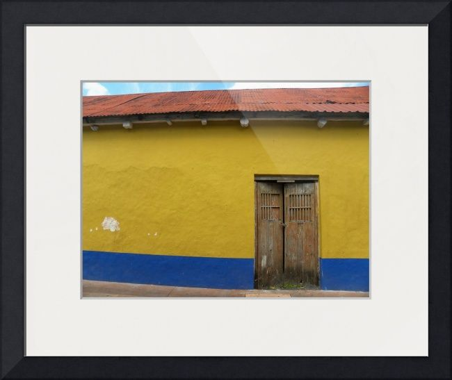 Red Yellow Blue Mexican Wall\