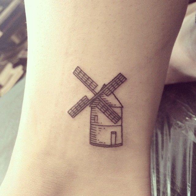 Instagram Photo By Galyagisca Nov 11 2014 At 4 00pm Utc Windmill Tattoo Amsterdam Tattoo Tattoo Designs