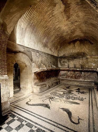 The women's tepidarium in Herculaneum.(371×500)