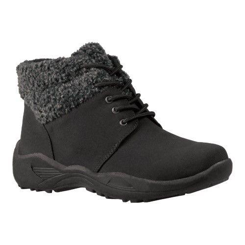 Propet Women's Madison Ankle Lace, Size: 7.5 B, Black