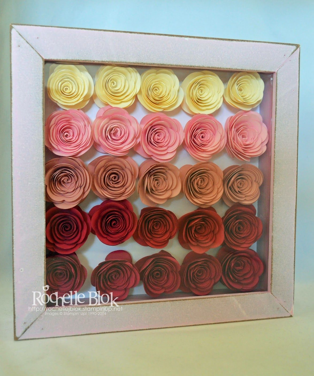 The St&ing Blok St&inu0027 Up! Spiral Flower Die Shadow Box Frame By Rochelle & The Stamping Blok: Stampinu0027 Up! Spiral Flower Die Shadow Box Frame ... Aboutintivar.Com