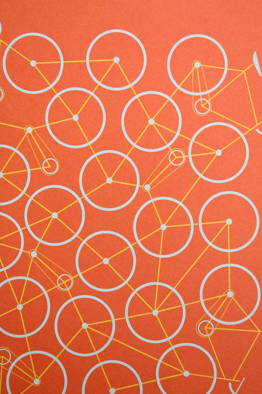 Bike Mess Grafische Muster Fahrrad Poster Entwurfsmuster