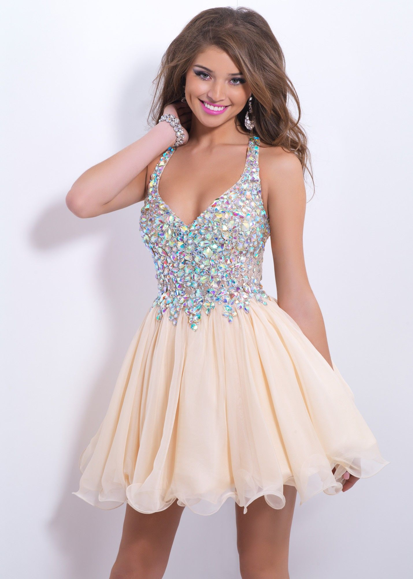 Blush Prom 9857 Sparkly Cocktail Dress - Crystals and jewels rock ...