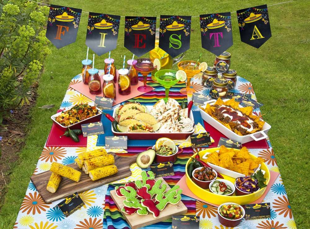 Mexican Themed Dinner Party Ideas Part - 23: Mexican Fiesta Decorations Diy | Mexican Fiesta Party Bunting Flags | Mexican  Fiesta Party Decorations | Mexican Fiesta Banner Editable