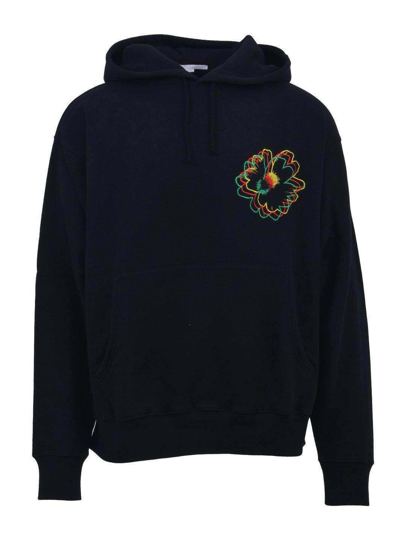 Stella Mccartney Black Nice One Embroidered Sweatshirt Stellamccartney Cloth Hoodies Cotton Hoodie Stella Mccartney [ 1440 x 1080 Pixel ]