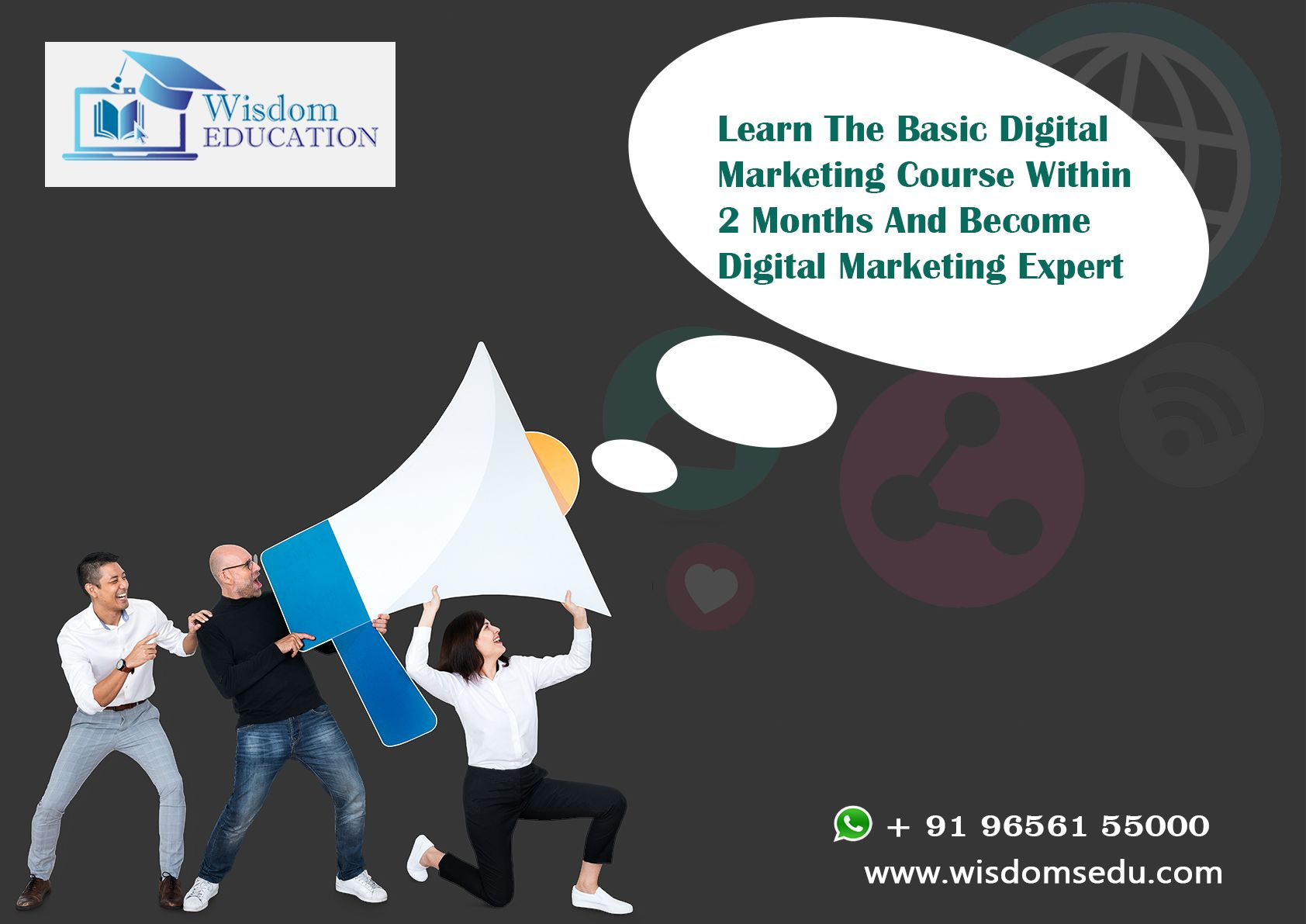 Organize and share your le. Learn Basic Digital Marketing Course from Wisdom Education ...