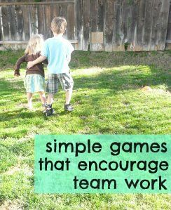 Stop sibling wars with these team work games.