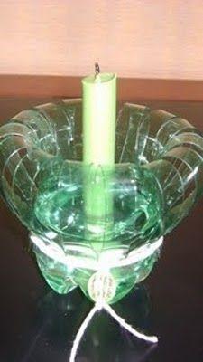 Candelabros De Botellas De Plastico Manualidades Con Botellas Manualidades Con Botellas De Plastico Faroles Con Botellas Plasticas