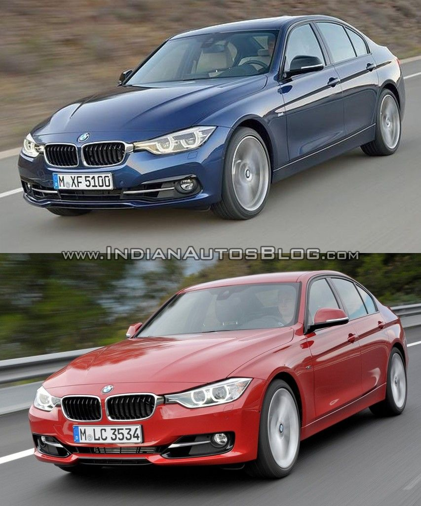 Here Is A Picture Comparison Of The 2015 BMW 3 Series (facelift) Vs The  Pre Facelift Model. The 3 Series Facelift Launches In India This Year.