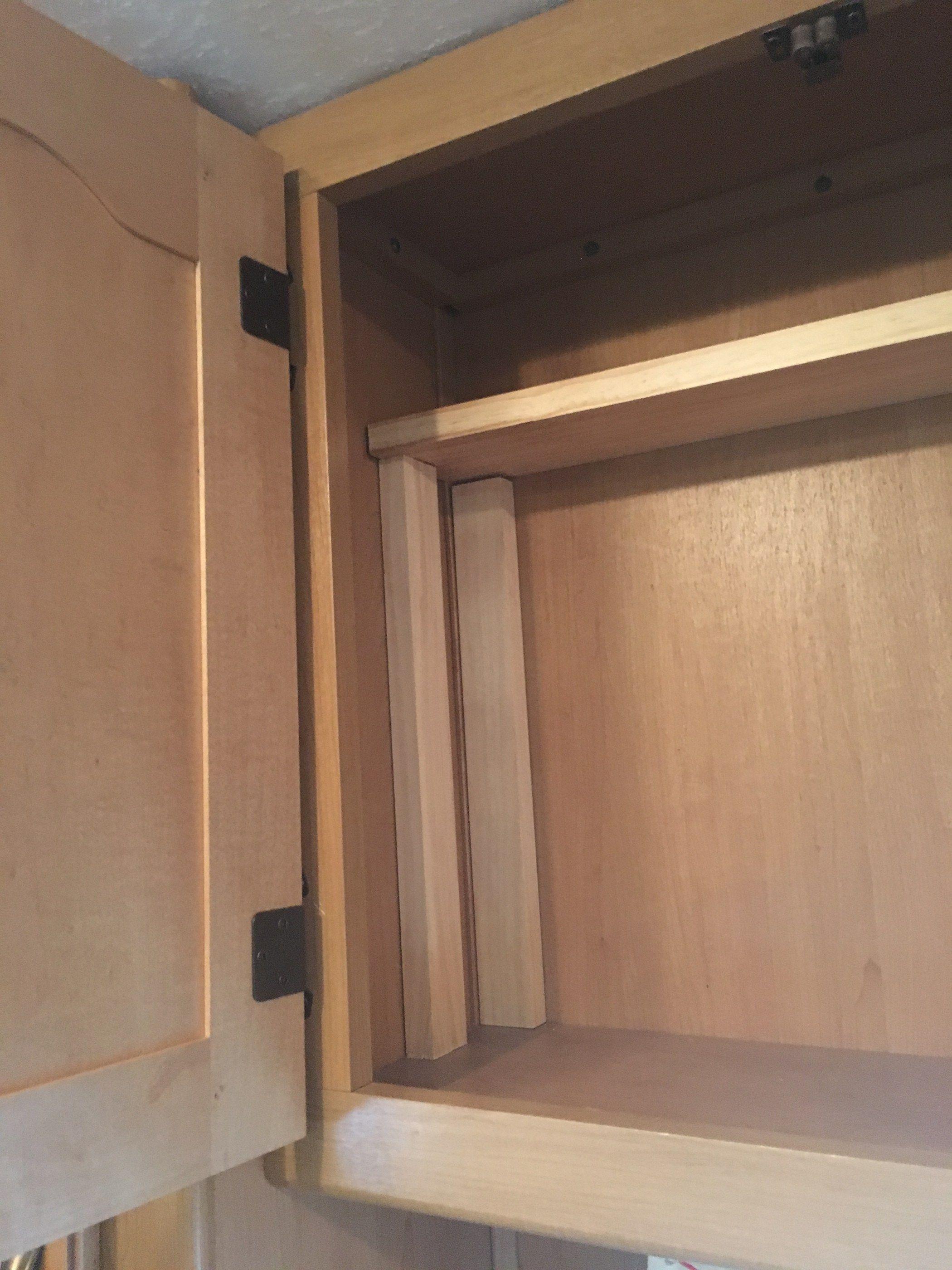 Diy Shelf Makeover Rv Cabinets Shelves