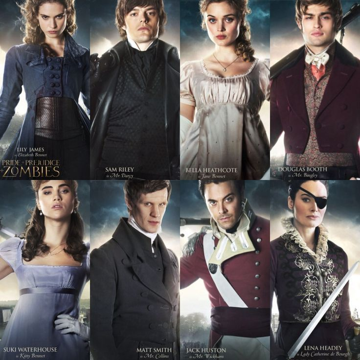 New Pride And Prejudice And Zombies Character Posters Featuring Elizabeth Bennet Pride And Prejudice And Zombies Pride And Prejudice Darcy Pride And Prejudice