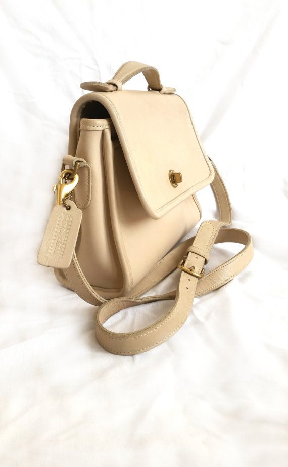 Coach Vintage Cream Ivory Court Bag Cross body by MaxonsAttic