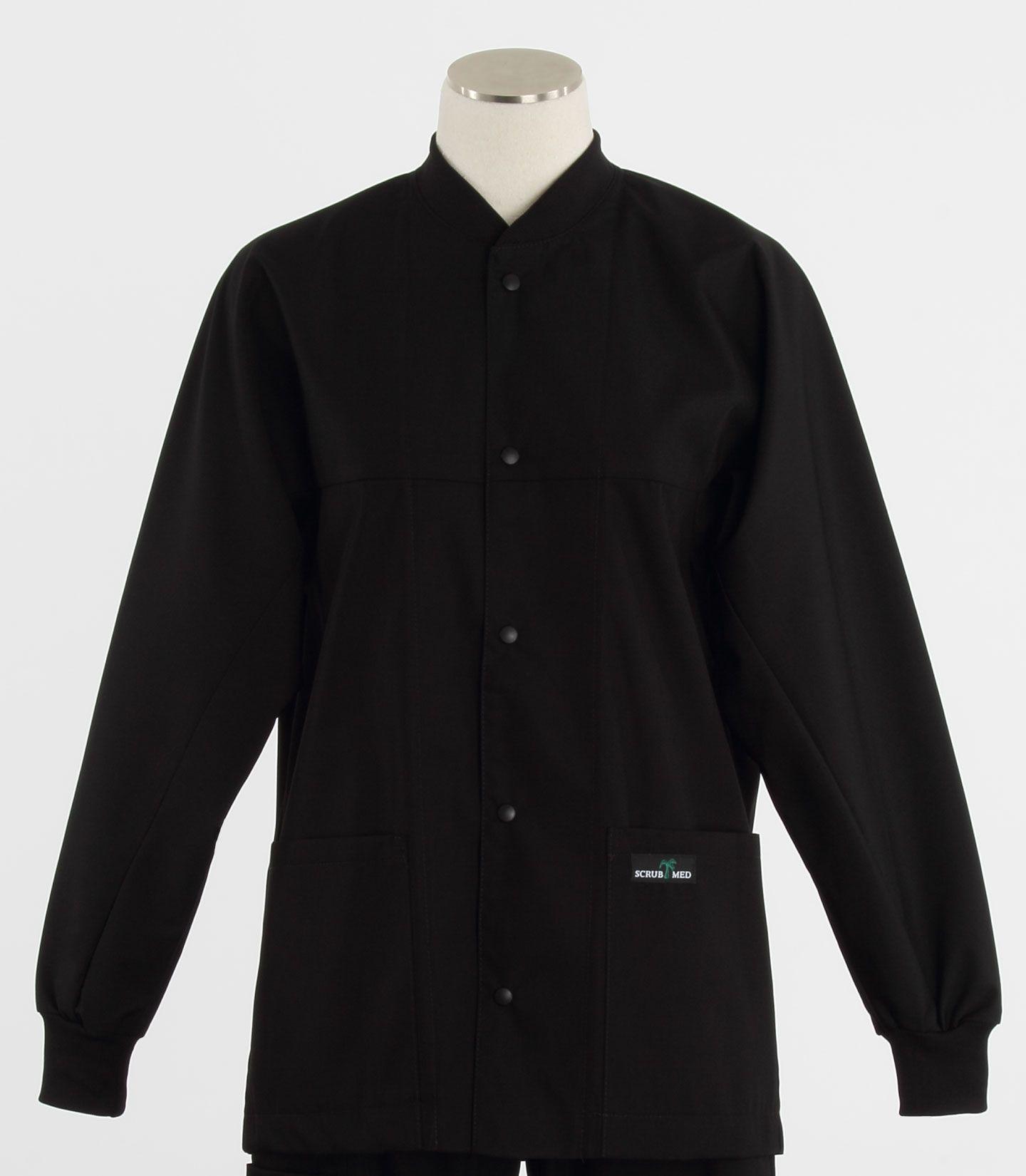 Black and white scrub jacket