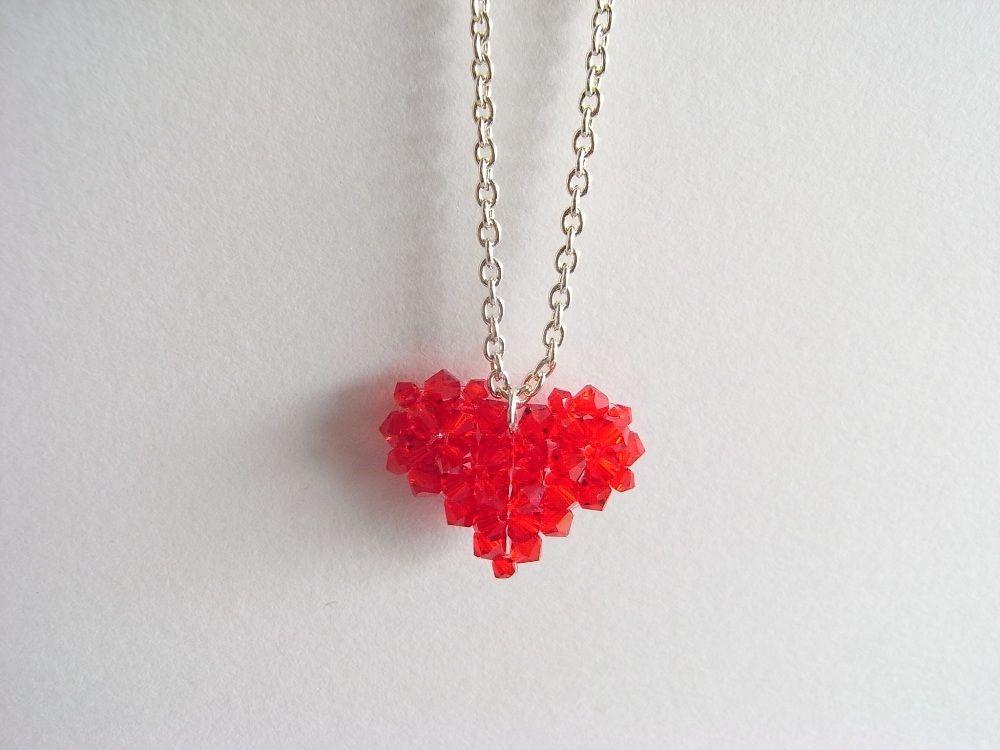 Beaded Heart Charm