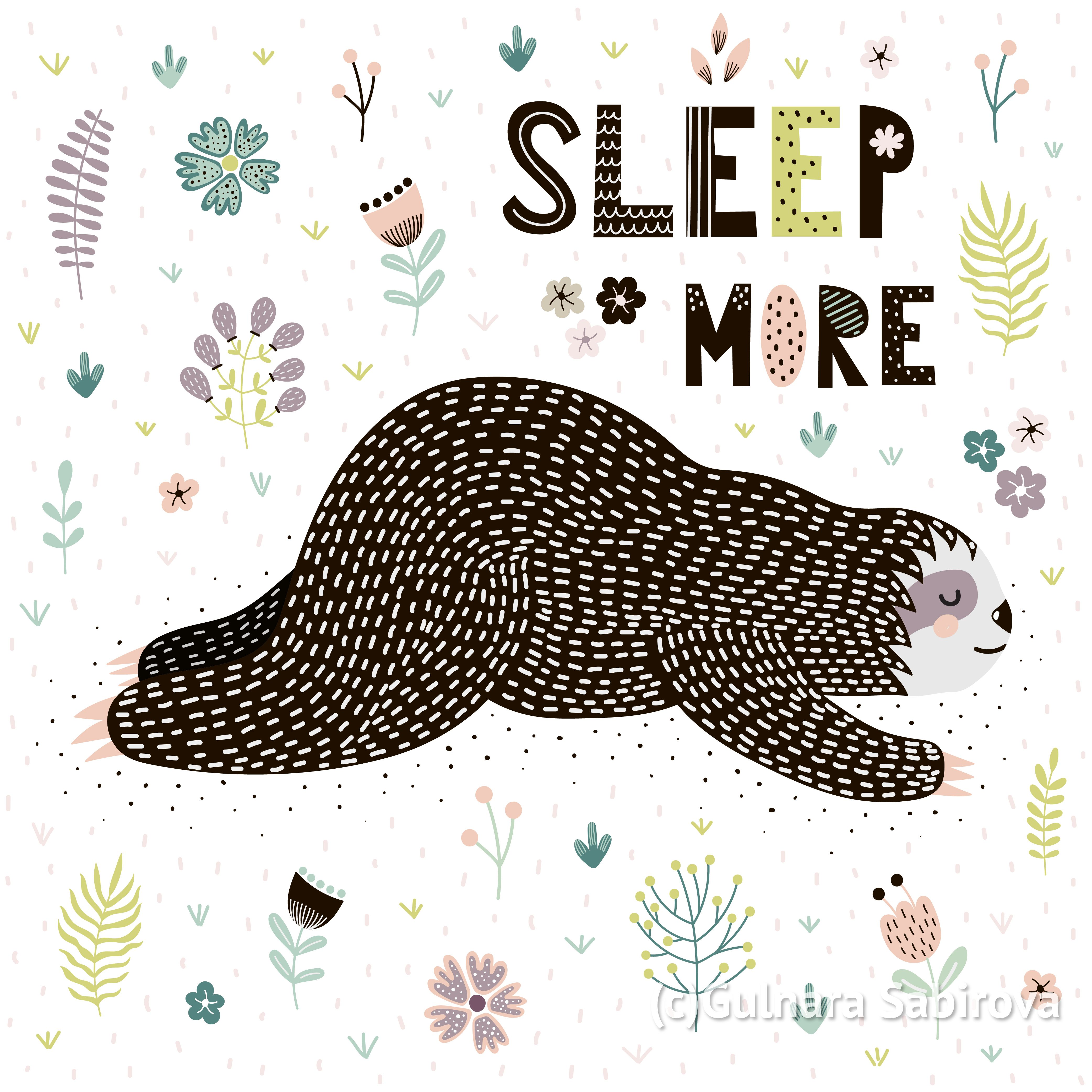 Cute sloths SVG clipart / Digital paper / Animals graphic