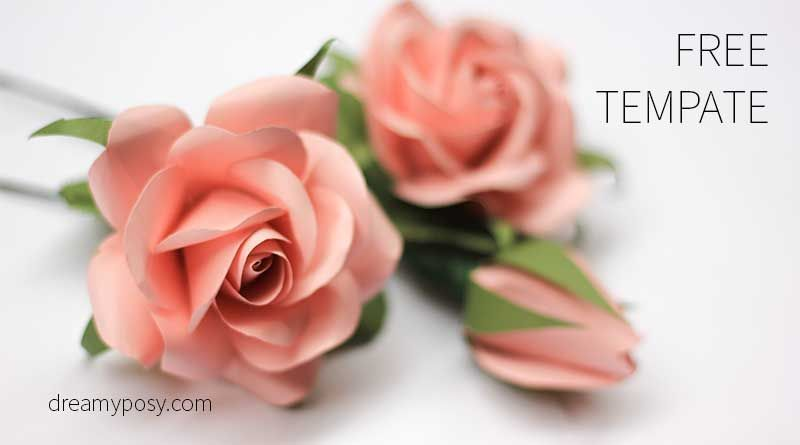 Easy tutorial to make a paper rose free template template flower mightylinksfo