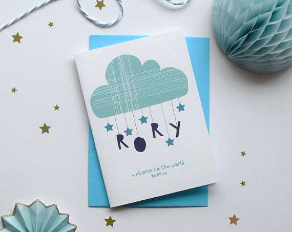Personalised New Baby Card Congratulations Card New Born Card New