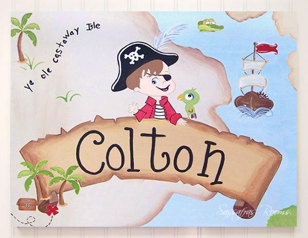 """""""I'm A Pirate Mom!"""" Semi-Custom Wall Art  16""""x20""""Wall art on Canvas"""