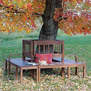 Oxford Tree Bench | Outside Spaces | Pinterest | Jardins, Idées ...