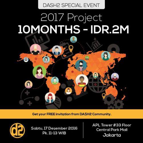 Ash2 Special Event 2017 Project 10 Months Idr 2m Sabtu 17 Des Pk 11 13 Wib Tempat Apl Tower 33 Floor Central Park Mall Jakarta Get Your Free Invita